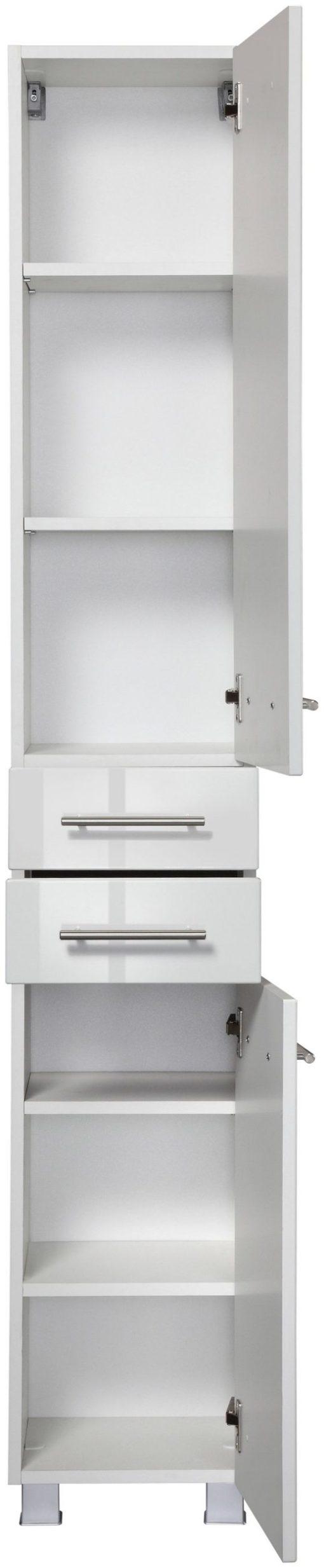 Piękna, minimalistyczna szafka do łazienki w kolorze białym