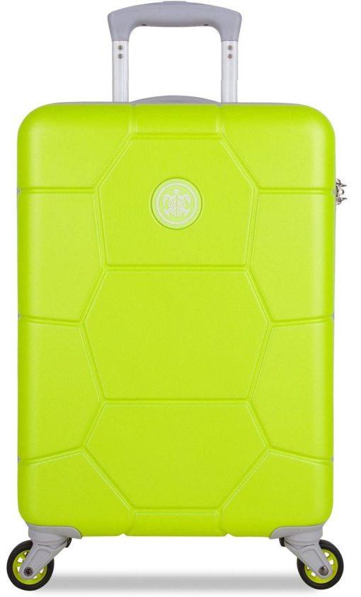 Zwracająca uwagę walizka na 4 kołach w pięknym kolorze