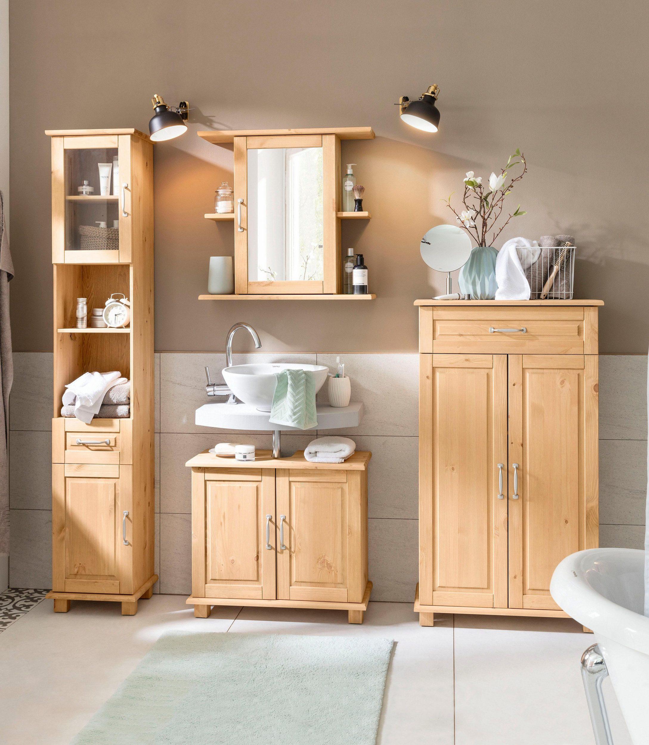 Piękna Szafka Do łazienki W Naturalnym Kolorze