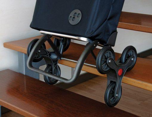 Dyskretny i wygodny wózek zakupowy na kółkach