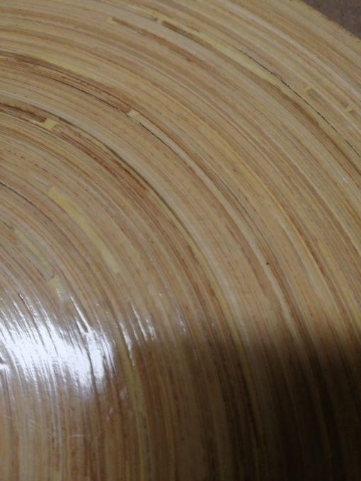 Niepowtarzalny zestaw 2 stolików z rattanową podstawą i z bambusowym blatem