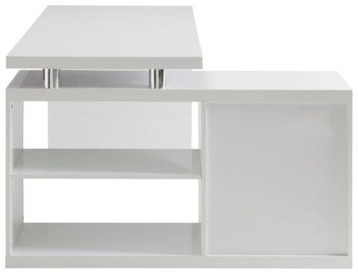 Praktyczne biurko w skandynawskim stylu z dodatkową komodą na dokumenty