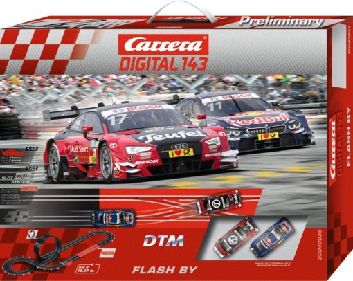 Tor wyścigowy Carrera  Digital 143 DTM Flash By