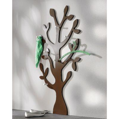 Modny wieszak ścienny w kształcie drzewa - brązowy