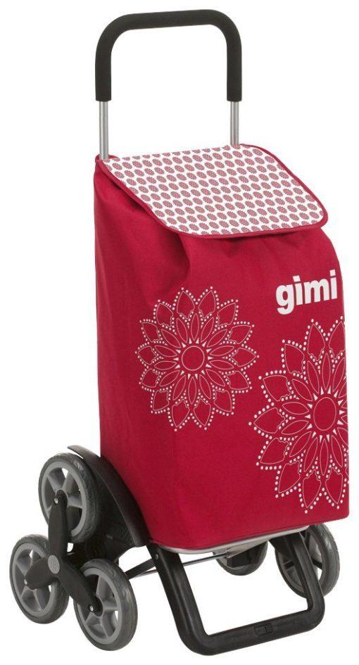 Praktyczny wózek na zakupy GIMI z ciekawym nadrukiem