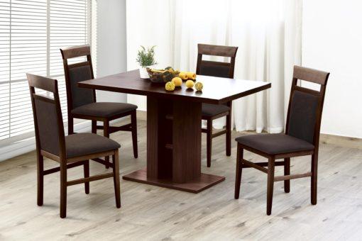 Ponadczasowe piękne krzesła z drewna i mikrofibry