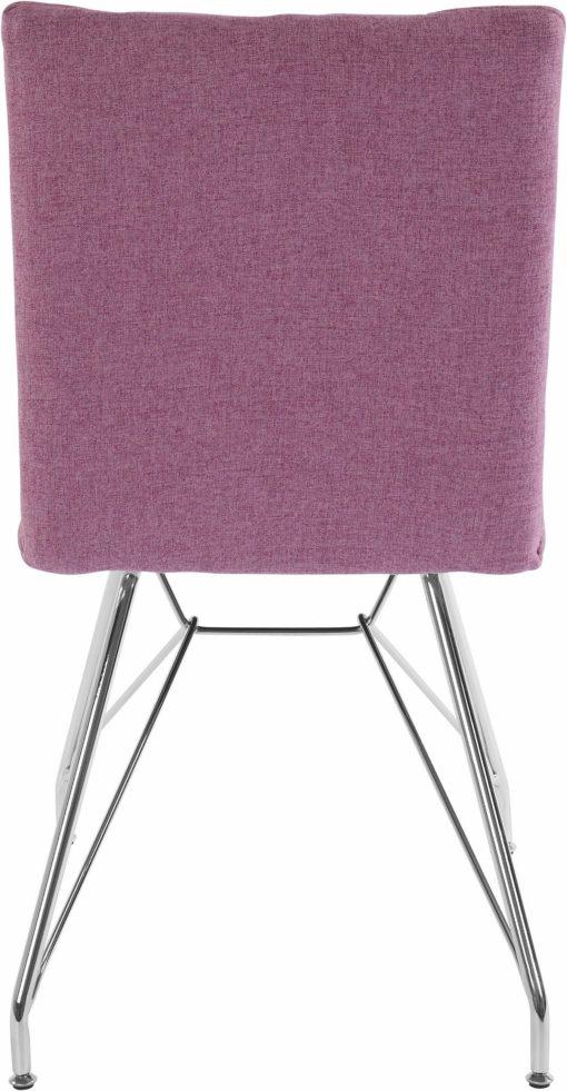 Wrzosowe pikowane krzesła w zestawie aż 4 sztuki