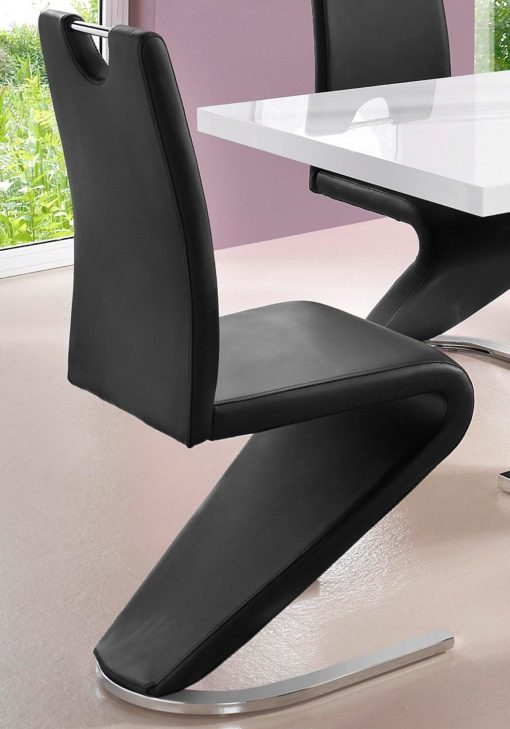 Stylowe krzesła ze skóry ekologicznej