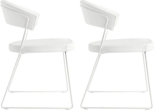 Designerskie i wygodne, ergonomiczne białe krzesła