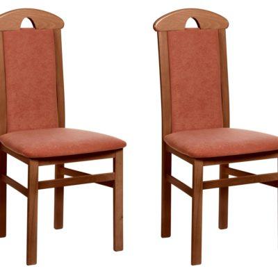 Klasyczne krzesła z litego drewna i gustownym oparciem