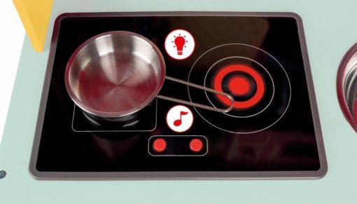 Kolorowa kuchnia Janod z efektem dźwiękowym i świetlnym