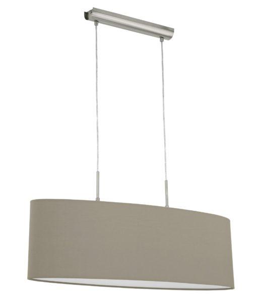 Elegancka lampa wisząca z kloszem w kolorze cappuccino