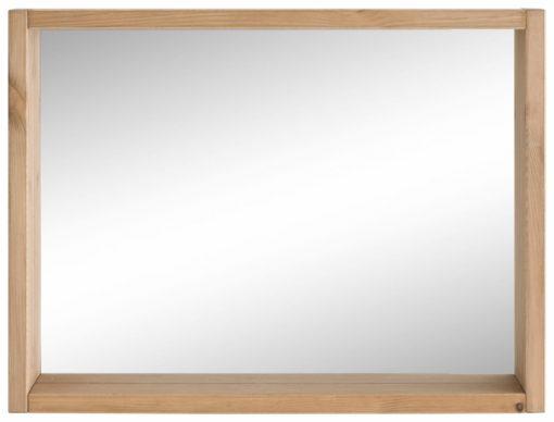 Piękne drewniane lustro nie tylko do łazienki