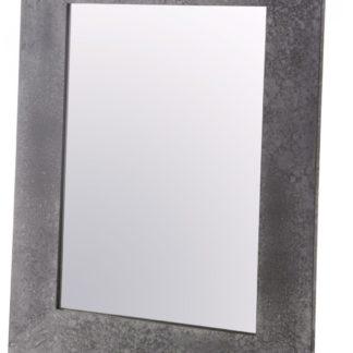 Modne lusterko ścienne w kolorze betonu