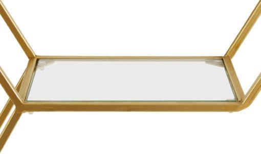 Fascynująca, złota półka ścienna w formie heksagonu
