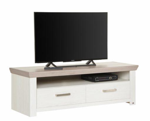 Pięknie wykończona szafka RTV w rustykalnym stylu