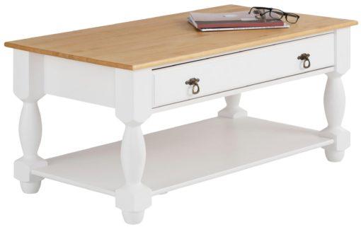 Przepiękny stylizowany stolik kwowy z certyfikowanej litej sosny