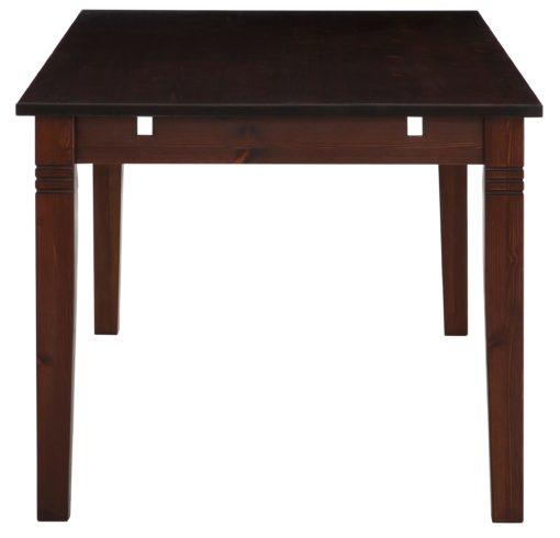 Atrakcyjny, ciemny stół o długości 140 cm