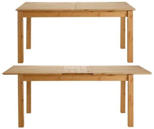 Rustykalny i praktyczny rozkładany stół z litej sosny