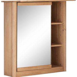 Szafka z lustrem w unikalnym stylu z półkami