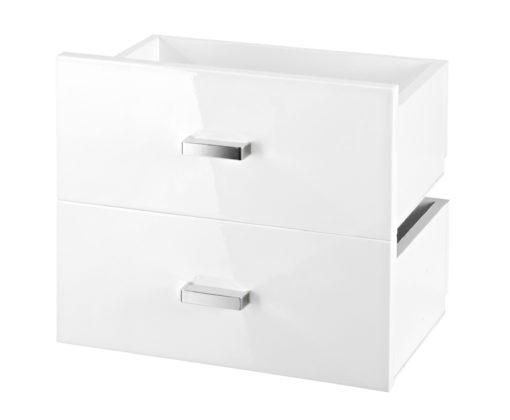 Zestaw dwóch szuflad, białe wysoki połysk