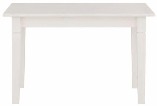 Sosnowy, rustykalny stół 110 cm, w kolorze białym