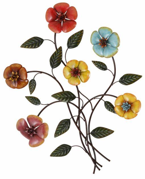 Urocza dekoracja ścienna, kolorowe kwiaty