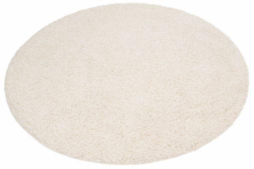 Przytulny okrągły dywan, w kolorze beżowym