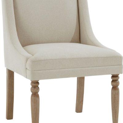 Kremowy fotel z toczonymi nogami