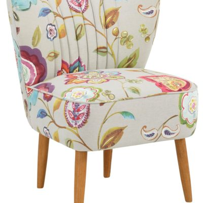 Atrakcyjny fotel z motywem kwiatowym