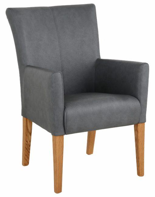 Wygodny, zgrabny fotel, w kolorze szarym