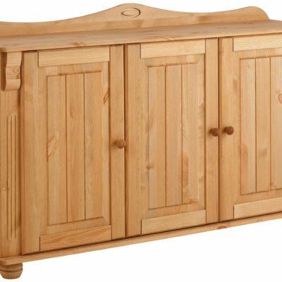 Piękna, drewniana komoda z ciekawymi zaokrągleniami