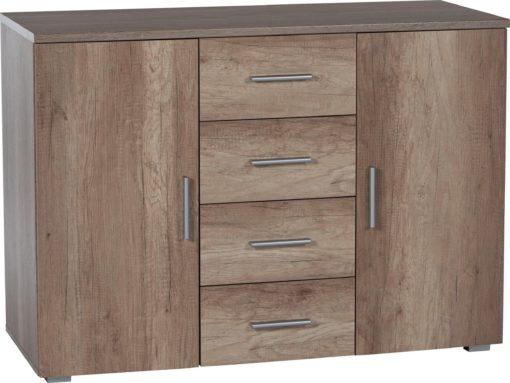 Klasyczna komoda z czterema szufladami i dwojgiem drzwi