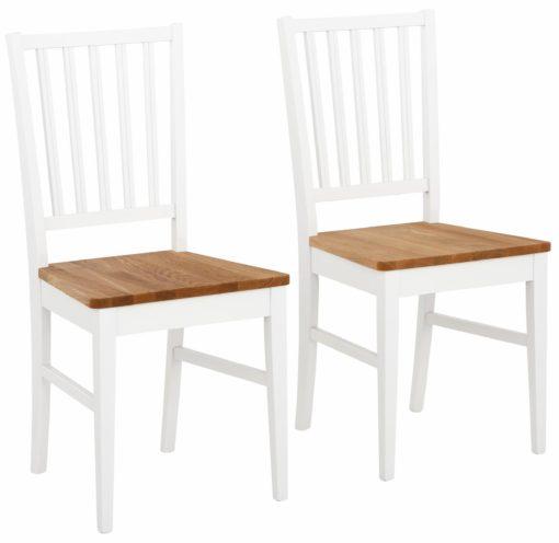 Zestaw pięknych drewnianych krzeseł do jadalni - 2 sztuki