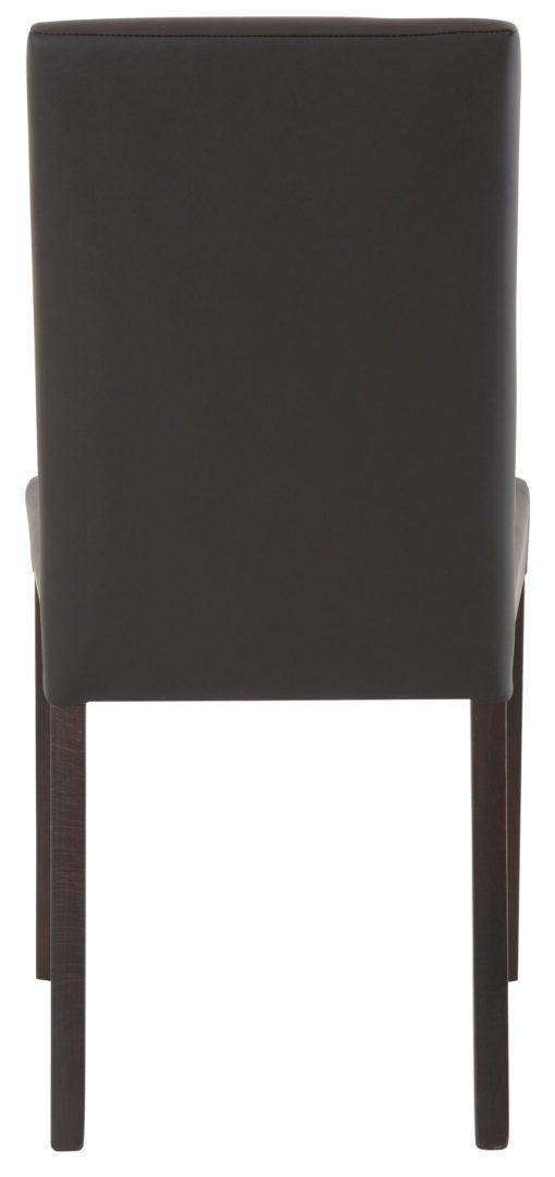 Ponadczasowe, proste krzesła ze sztucznej skóry - 6 sztuk