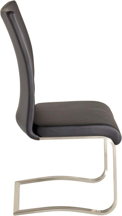 Stylowe krzesła z metalową podstawą - 2 sztuki