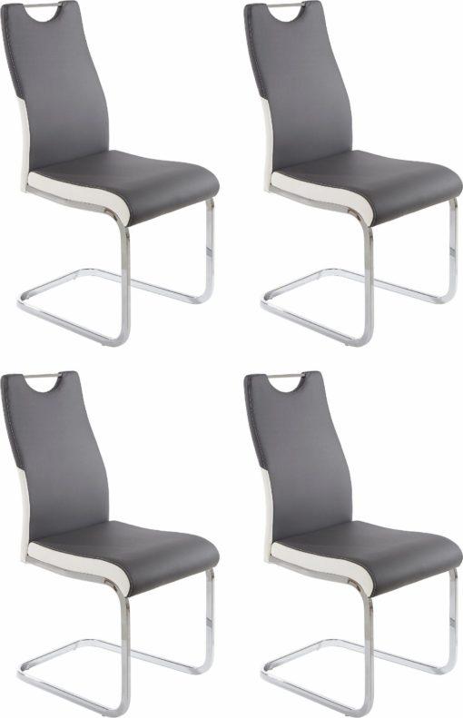 Eleganckie krzesła na płozach - komplet 4 sztuki