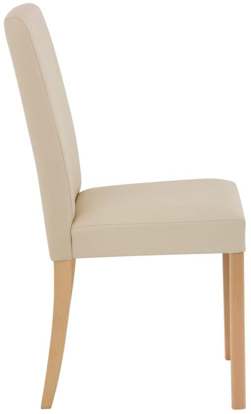 Gustowne beżowe krzesła w klasycznym stylu - 2 sztuki