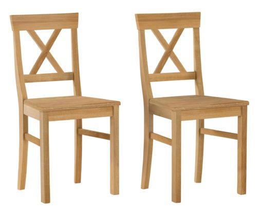 Piękne klasyczne krzesła z dębu - zestaw 2 sztuki