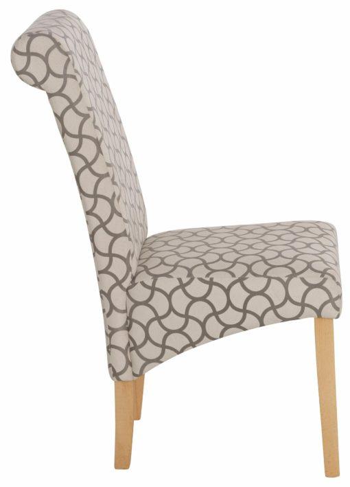 Piękne krzesła z motywem fali w nowoczesnym stylu - 4 sztuki