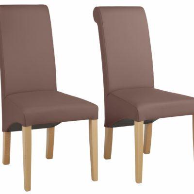 Piękne i stylowe krzesła do jadalni, rama z drewna bukowego - 6 sztuk