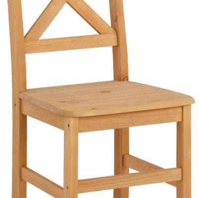 Praktyczne krzesła z sosny - komplet 2 sztuki