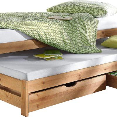 Komfortowe łóżko z wysuwaną dodatkową kanapą
