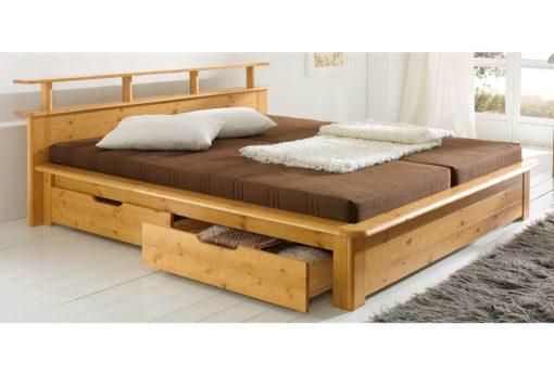 Łóżko w rustykalnym stylu, z litego drewna 140x200 cm