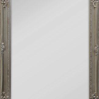 Lustro w zdobionej ramie, stylizowanej na antyczny-look