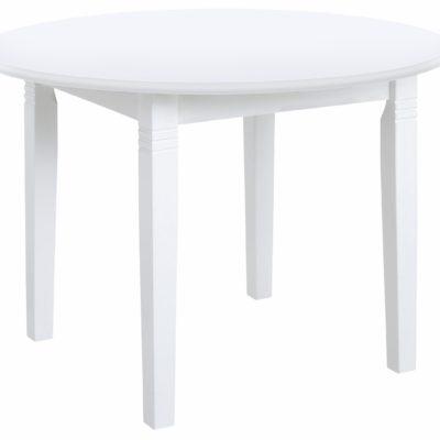 Okrągły, sosnowy stół 90 cm, w kolorze białym