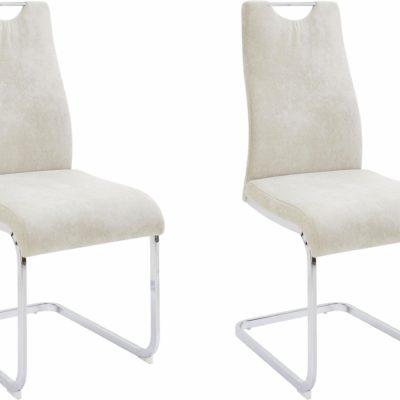 Zestaw sześciu gustownych krzeseł na płozach