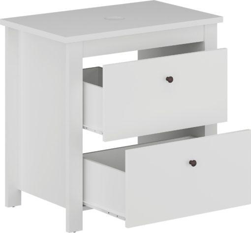 Dyskretna szafka pod umywalkę z dwiema szufladami