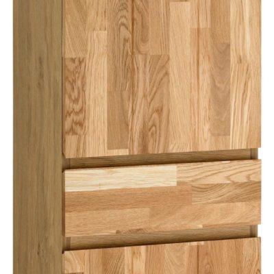 Wysoka szafka, słupek z frontem z drewna dębowego