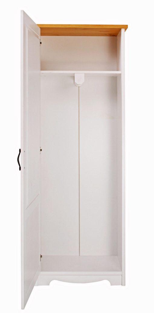Jednodrzwiowa szafa w stylu prowansalskim, sosnowa